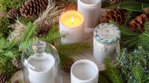 December Candle Tablescape