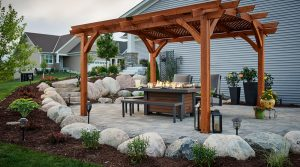 outdoor dining fire table