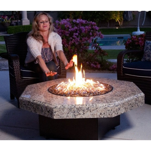 Seasonal Concepts Oriflamme 45 Octagon Firepit With Granite Top By Designing Fire Seasonal Concepts