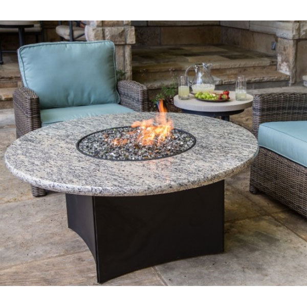 Seasonal Concepts Oriflamme 48 Round Firepit With Granite Top By Designing Fire Seasonal Concepts