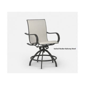 Holly Hill Swivel Balcony Chair by Homecrest